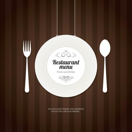 bistro cafe: Restaurant menu design