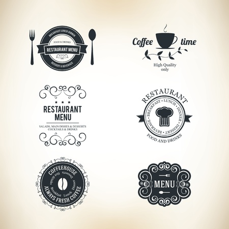 gorro chef: Etiqueta de conjunto para el restaurante y la cafeter�a