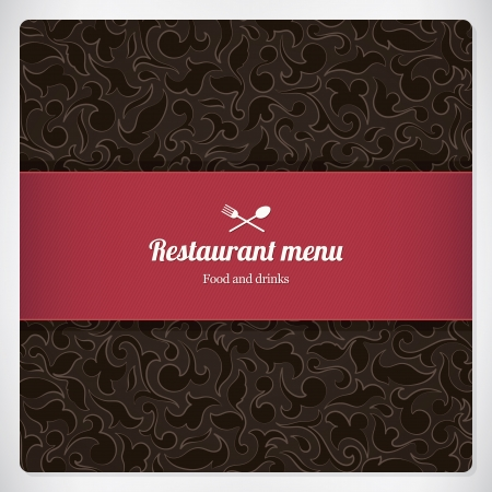 vintage cafe: Restaurant menu design