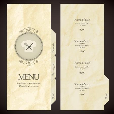 food menu: Restaurant menu design