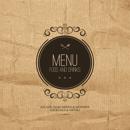background vintage: Restaurant menu design