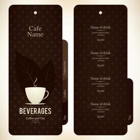 menu card: Menu for restaurant, cafe, bar, coffeehouse