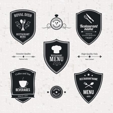 cocinero: Etiqueta de conjunto para el restaurante y la cafeter�a