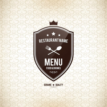 shield: Restaurant menu design