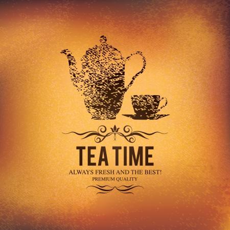 tea pot: Menu for restaurant, cafe, bar, coffeehouse