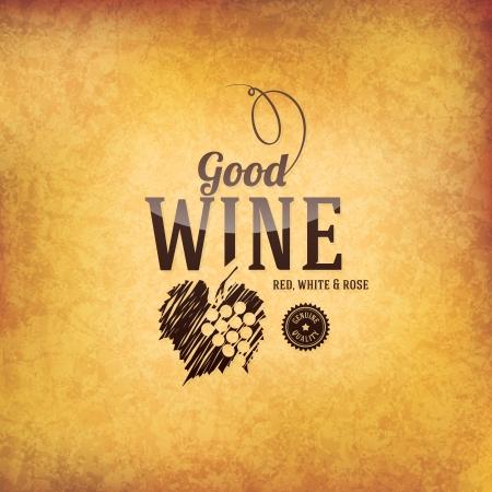 old: Wine list design Illustration