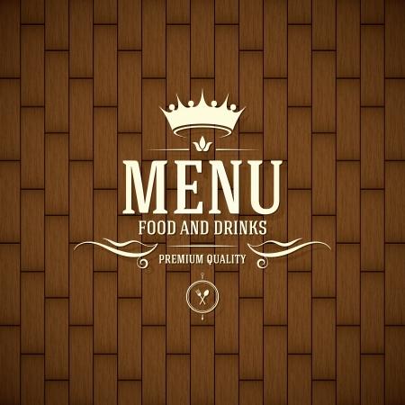 corona real: Diseño del menú del restaurante