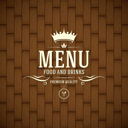 royal crown: Restaurant menu design