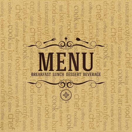 Restaurant menu design Stock Vector - 19084604