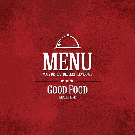 menu restaurant: Conception du menu des restaurants Illustration