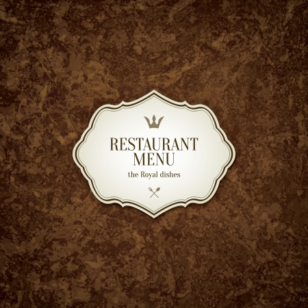 food label: Restaurant menu design