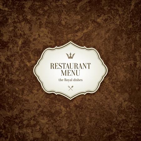 vintage menu: Restaurant menu design