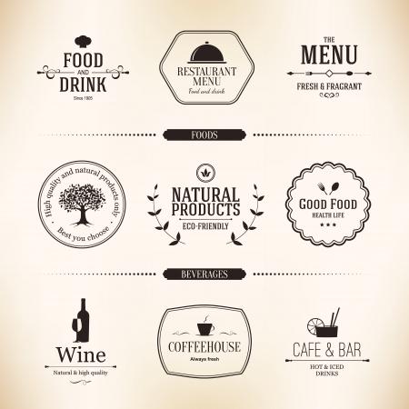 menu restaurant: ensemble d'�tiquettes pour la conception de menu de restaurant