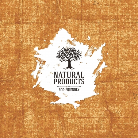 Old shabby background / Natural product concept Stock Vector - 19084607