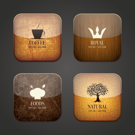 Food and drink application icons, restaurant theme Vector