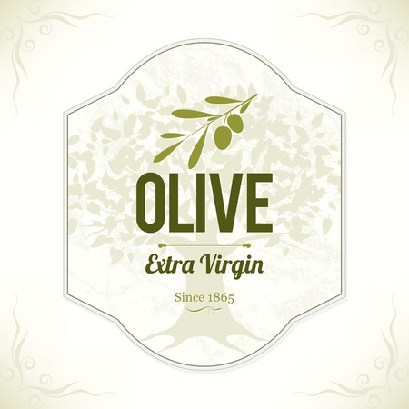 Olive label Vector