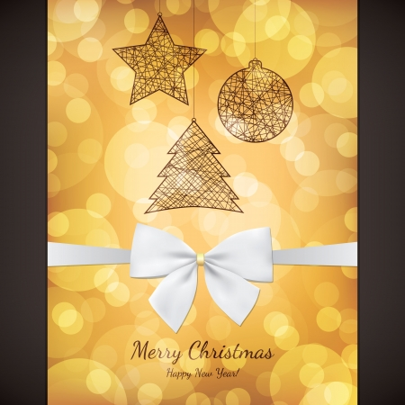 Christmas and New Year greeting card Stock Vector - 21191425