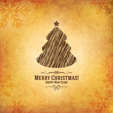 Christmas and New Year greeting card Stock Vector - 21191424