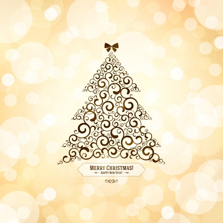 Christmas and New Year greeting card Stock Vector - 21191429