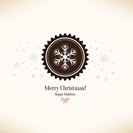 Christmas and New Year greeting card Stock Vector - 21191439