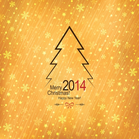 Christmas and New Year greeting card Stock Vector - 21191441