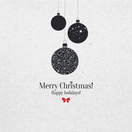 Weihnachten und Silvester Grusskarte Illustration