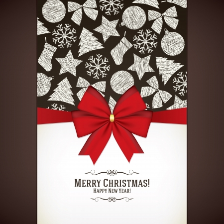 Christmas and New Year greeting card Stock Vector - 21191449