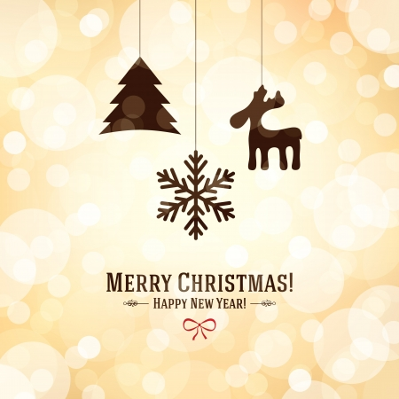 Christmas and New Year greeting card Stock Vector - 21191457