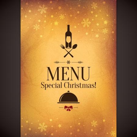 elegante: Menu especial restaurante de Natal