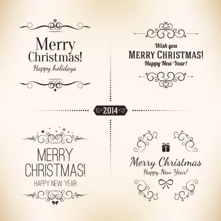 Weihnachten und Neujahr Symbole f?r Design Postkarte, Einladung, Plakat und andere