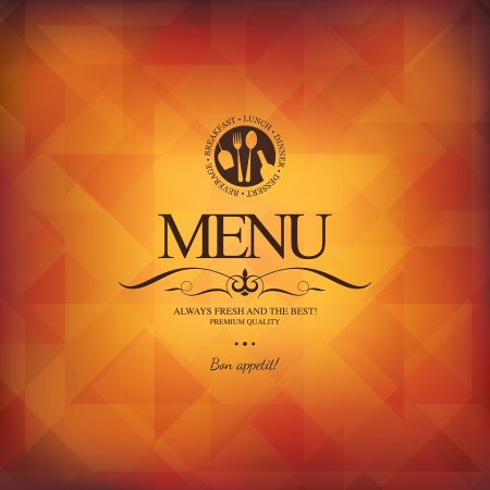 menu card design: Restaurant menu design