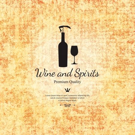 weingläser: Weinkarte Design