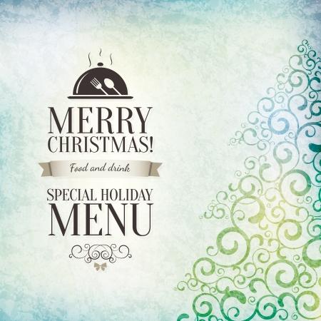 menu de postres: Restaurante de dise�o del men� especial de Navidad Vectores