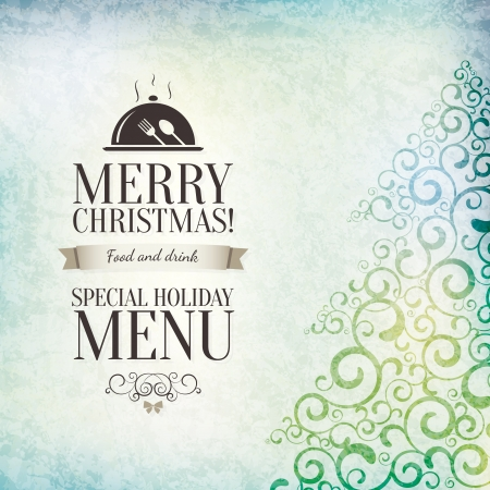 speisekarte: Special Christmas Restaurant Menü-Design Illustration