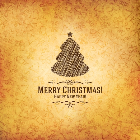 Christmas and New Year  Vector greeting card Stock Vector - 22097581