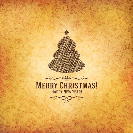 Weihnachten und Neujahr Vector Grußkarte