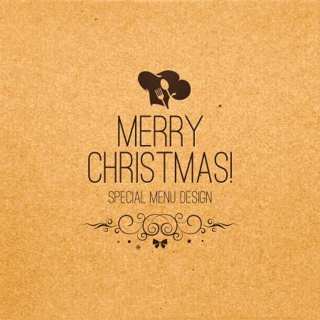 Special Christmas Restaurant Menü-Design Illustration