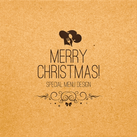 Special christmas restaurant menu design Vector