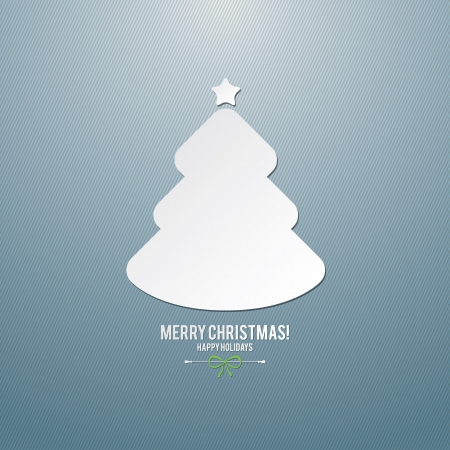 Weihnachten und Neujahr Vektor-Grußkarte