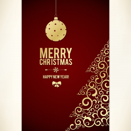 Christmas and New Year  Vector greeting card Stock Vector - 22097584