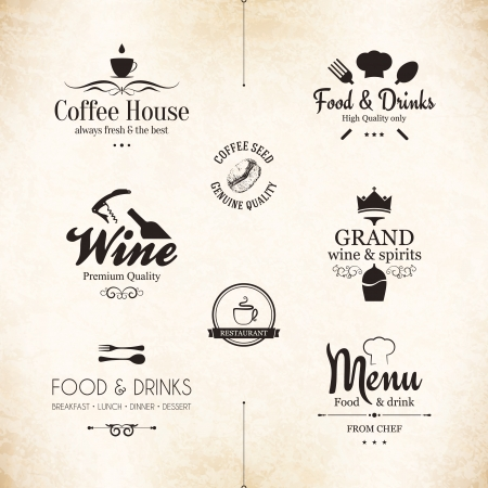 Label set f?r Restaurant Men?-Design
