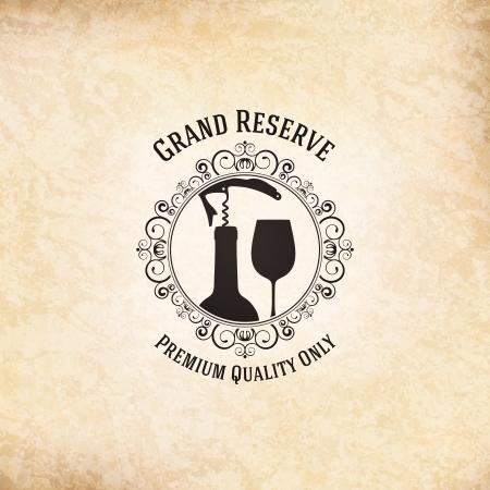 Conception de carte des vins Vecteurs