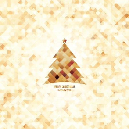 old year: Natale e Capodanno Vector carta Anno d'auguri
