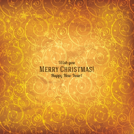 party celebration: Christmas and New Year  Vector greeting card