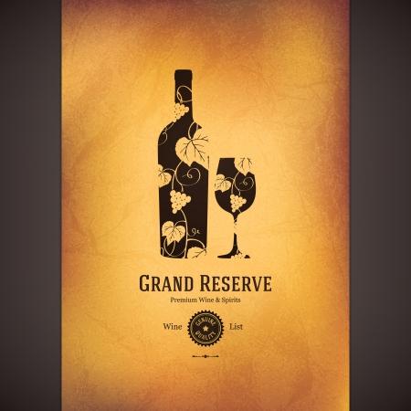 wijn en spijzen: Wijnkaart ontwerp