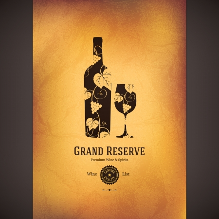 wine label design: Wine list design Illustration