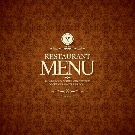Restaurant menu design Stock Vector - 23036416