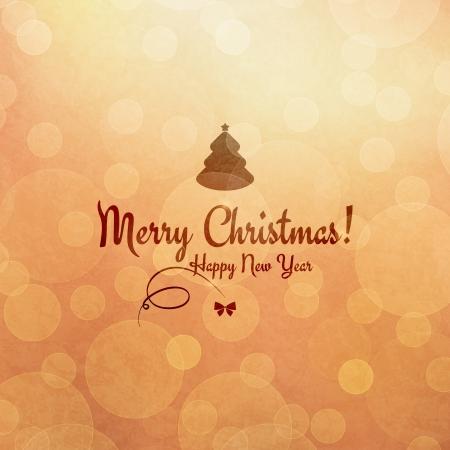 vector greeting card: Christmas and New Year  Vector greeting card