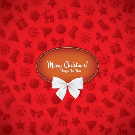 Christmas and New Year  Vector greeting card Vector