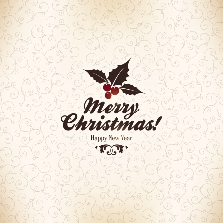 Christmas and New Year  Vector greeting card Stock Vector - 23471955